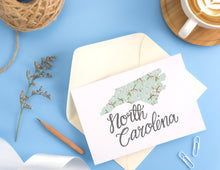 Load image into Gallery viewer, North Carolina State Map Folded Card