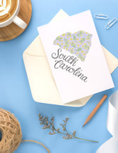 Load image into Gallery viewer, South Carolina State Map Folded Card