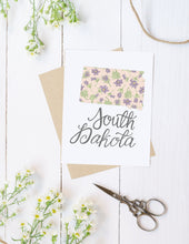 Load image into Gallery viewer, South Dakota State Map Folded Card
