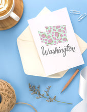 Load image into Gallery viewer, Washington State Map Folded Card