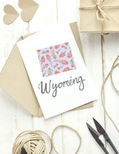 Load image into Gallery viewer, Wyoming State Map Folded Card