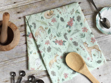 Load image into Gallery viewer, Winter Woodland Tea Towel