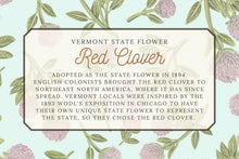 Load image into Gallery viewer, Red Clover Tea Towel - Vermont State Flower