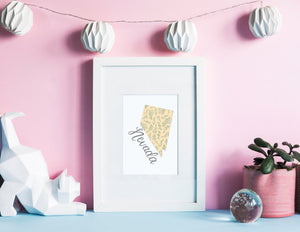Nevada State Map Art Print