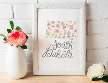 Load image into Gallery viewer, South Dakota State Map Art Print