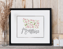 Load image into Gallery viewer, Montana State Map Art Print