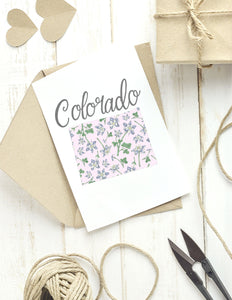 Colorado State Map Folded Card