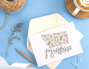 Montana State Map Folded Card