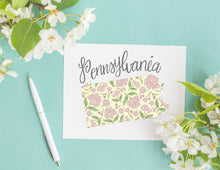 Load image into Gallery viewer, Pennsylvania State Map Folded Card