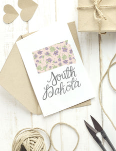 South Dakota State Map Folded Card