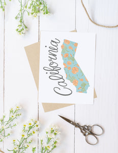 California State Map Folded Card
