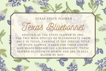 Load image into Gallery viewer, Texas Bluebonnet Tea Towel