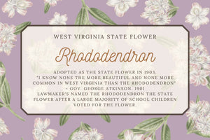 Rhododendron Floral Tea Towel - West Virginia State Flower