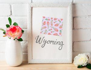 Wyoming State Flower Art Print