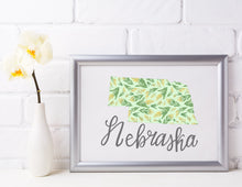 Load image into Gallery viewer, Nebraska State Map Art Print