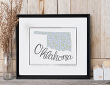 Load image into Gallery viewer, Oklahoma State Map Art Print