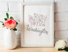 Load image into Gallery viewer, Washington State Map Art Print
