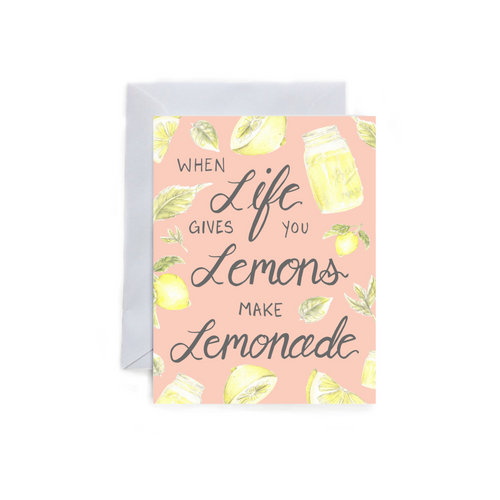 Life Gives you Lemons Folded Card