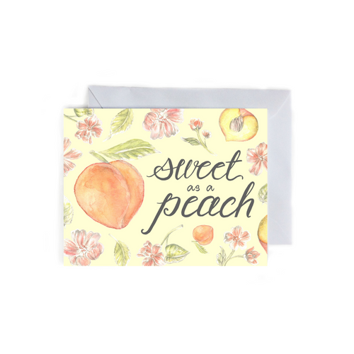 Sweet as a Peach Folded Card