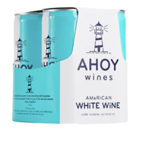 Ahoy Wines - White - 250ml four-pack