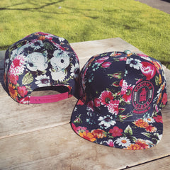 Floral Snap Back Hat