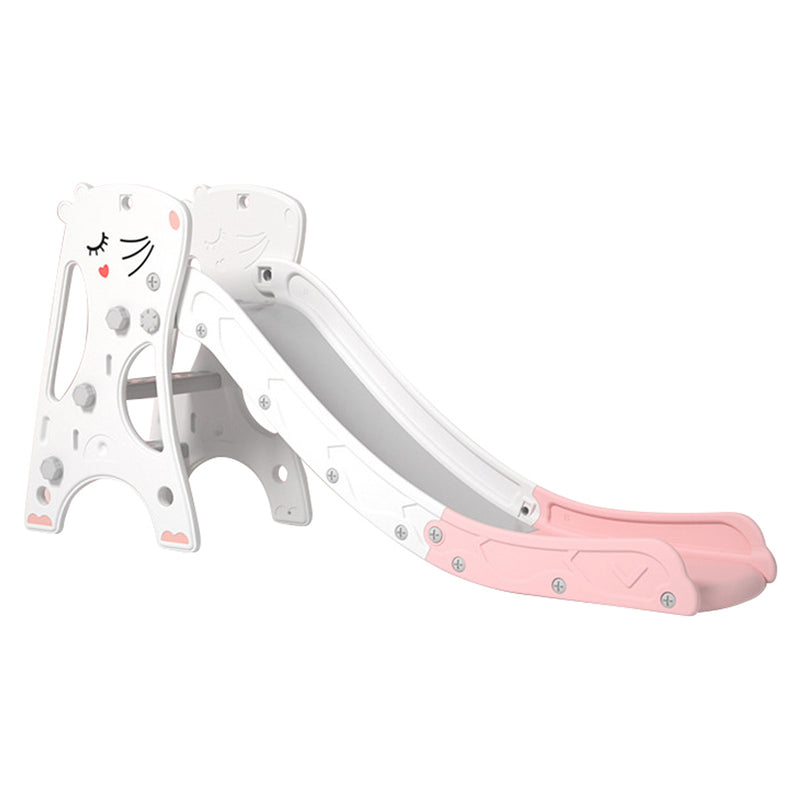 Rat 2 in 1 Kids Climber Slide with Extra Long Slide and Basketball Hoop. Age: 1-8 Years (Pink+White)
