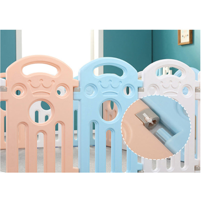 12 Panel Foldable Baby Playpen Yard Fence with Activity Wall and 100 Ocean Ball.