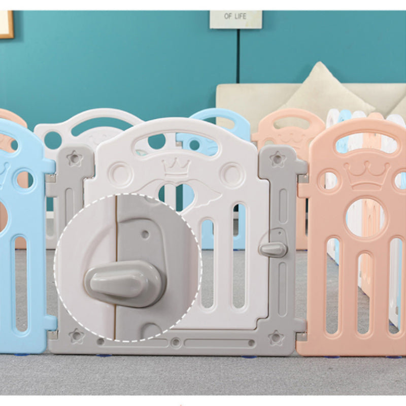 10 Panel Foldable Baby Playpen Yard Fence with Activity Wall and 100 Ocean Ball.