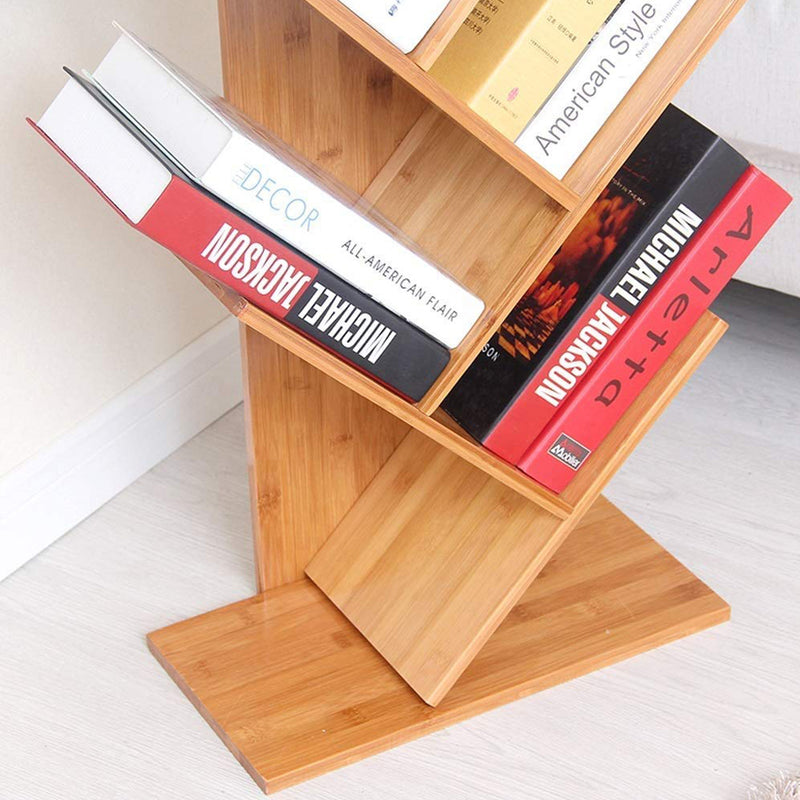 5 Tier Tree Bookshelf / Rack Organizer  - Brown