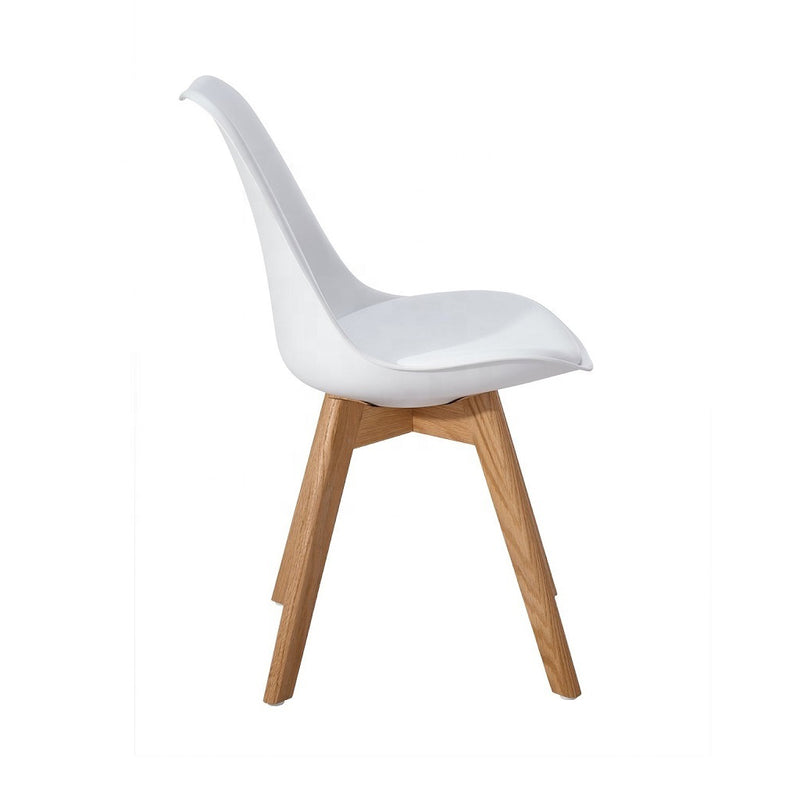 Classic Dining Chair With Cushioned Seat -White