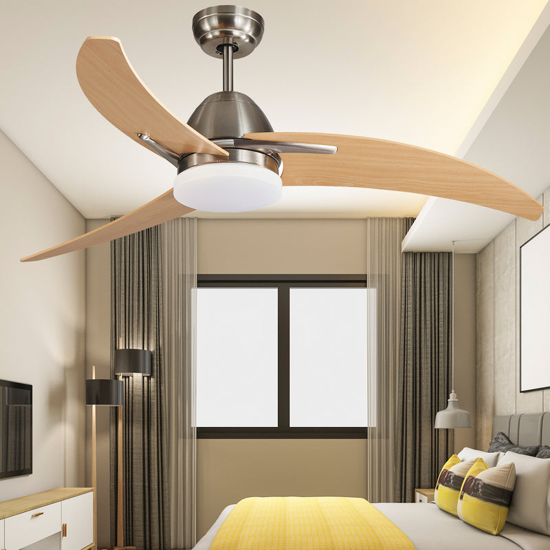 Sand Nickel Finish Ceiling Fan With LED light.