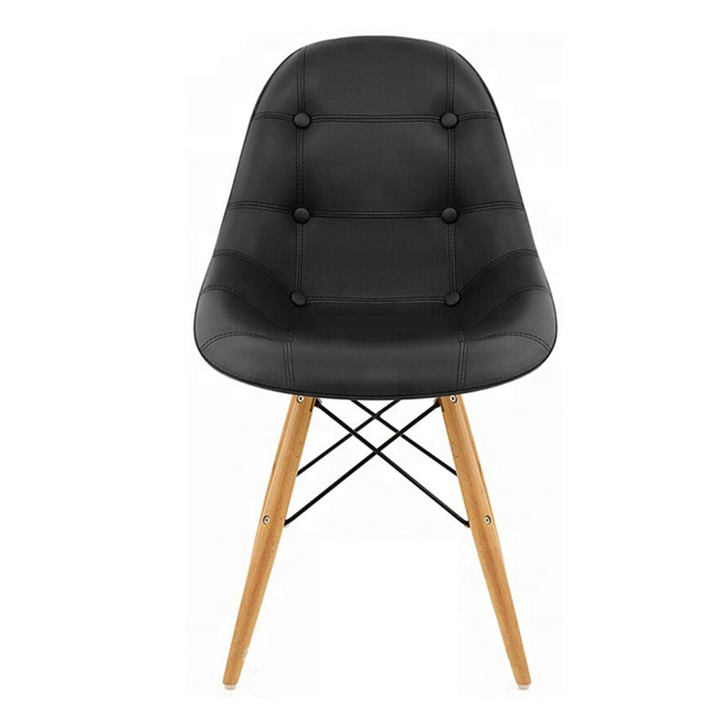 DSW Padded Backrest Dining Chair - Black