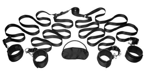 Adult Toys - Bedroom Restraint Kit Black