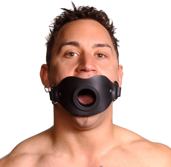 Adult Toys - Leather Locking Open Mouth Gag