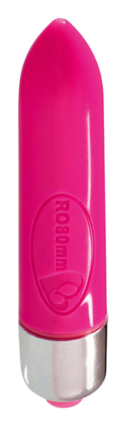 Adult Toys - RO-80mm Single Spd Ammunition Pink