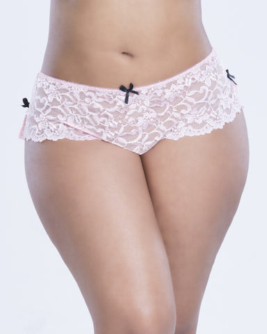 Lingerie - Back Lace Up Crotchless Panty