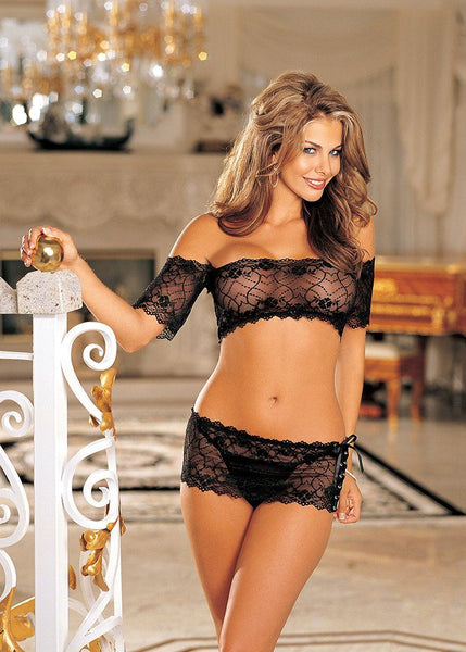 Lingerie - Crop Top W/ Skirt & G-string