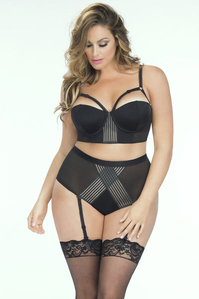 Lingerie - Molded Cup Bra And High Waist Panty W/ Elastic Detail