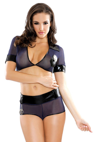 Lingerie - Read My Rights Cop Costume