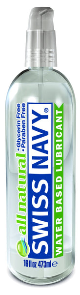 Lotions & Potions - Swiss Navy All Natural Lubricant 16oz/473ml