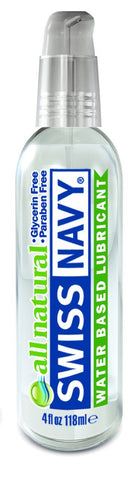 Lotions & Potions - Swiss Navy All Natural Lubricant 4oz/118ml