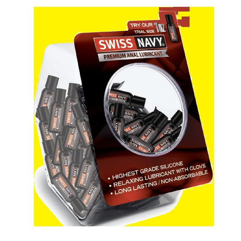 Lotions & Potions - Swiss Navy Anal Lubricant 1oz/29ml Fishbowl - 50pcs