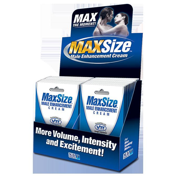 Lotions & Potions - Swiss Navy Max Size Cream 24ct Display