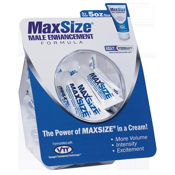 Lotions & Potions - Swiss Navy Max Size Cream 50ct Fishbowl