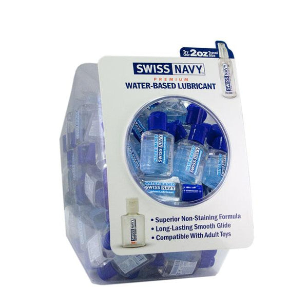 Lotions & Potions - Swiss Navy Water Based Lubricant 20ml Fishbowl - 100pcs