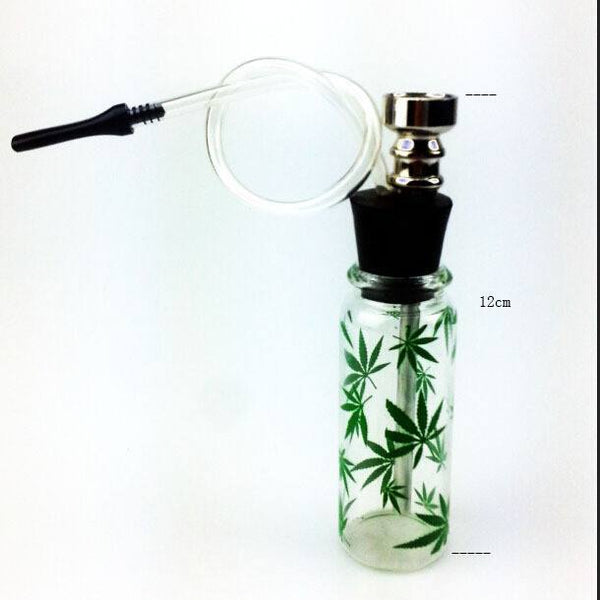Quality Mini Hookah Smoking Pipe Glass Pipe Water Pipe Small Shisha Weed Leaf Style - Aussie Discreet Express Rush, Jungle Juice Platinum, Sweet Puff, Poppers International Shipping