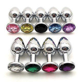 Stainless Steel Chrome Plated Jeweled Butt Plug - Aussie Discreet Express Rush, Jungle Juice Platinum, Sweet Puff, Poppers International Shipping