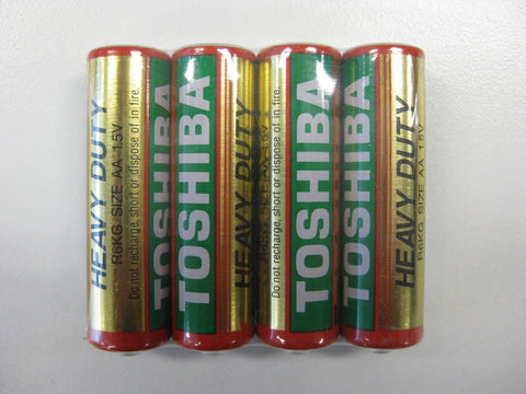 Stationary - Toshiba Heavy Duty AA Shrink 4Pk Battery