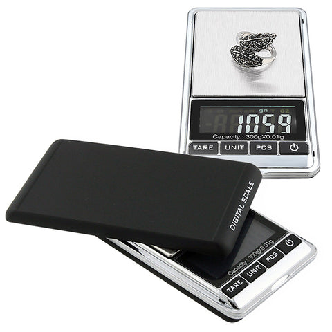 digital pocket scale (black/ silver) accurate from 0.01 gram up to 10.5-oz - Aussie Discreet Express Rush, Jungle Juice Platinum, Sweet Puff, Poppers International Shipping - 1