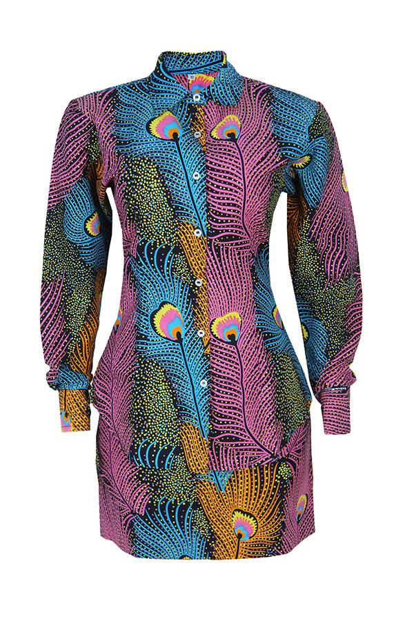 Load image into Gallery viewer, AFRICAN PRINT GOKE DRESS